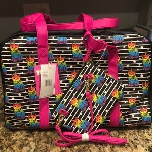 Betsey Johnson Weekender Bag with Wrislet